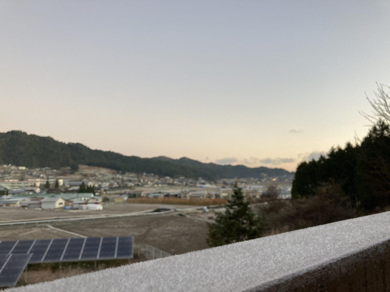 11/24 6時 快晴 -1℃